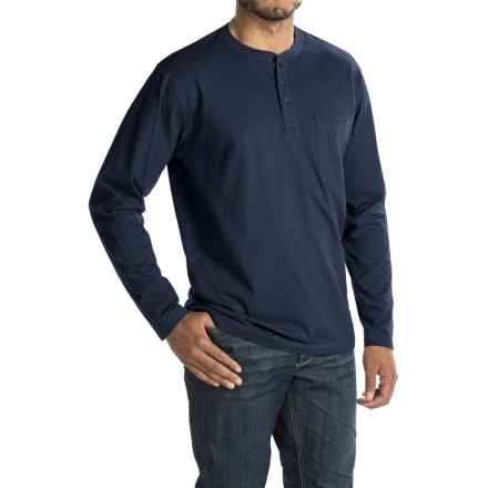 Woolrich Tall Pine Henley Shirt - Long Sleeve (For Men) in Deep Indigo - Closeouts
