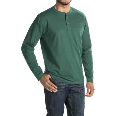 Woolrich Tall Pine Henley Shirt - Long Sleeve (For Men) in Pacific Teal - Closeouts