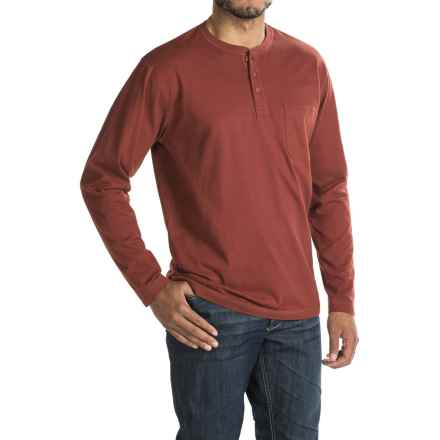 Woolrich Tall Pine Henley Shirt - Long Sleeve (For Men) in Russet Brown - Closeouts