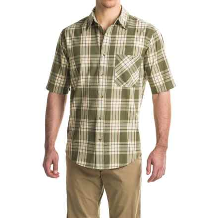 Woolrich Tall Pine Madras Shirt - Short Sleeve (For Men) in Olive - Closeouts