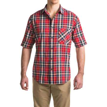 Woolrich Tall Pine Madras Shirt - Short Sleeve (For Men) in Red - Closeouts
