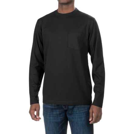 Woolrich Tall Pine Pocket T-Shirt - Long Sleeve (For Men) in Black - Closeouts