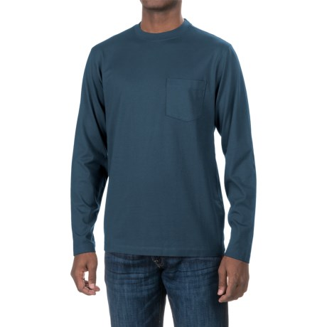 Woolrich Tall Pine Pocket T-Shirt - Long Sleeve (For Men) in Deep Indigo