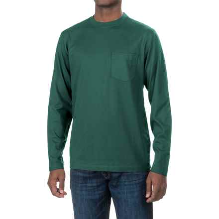 Woolrich Tall Pine Pocket T-Shirt - Long Sleeve (For Men) in Pacific Teal - Closeouts