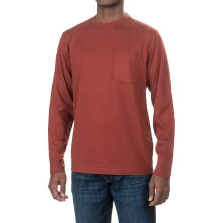 Woolrich Tall Pine Pocket T-Shirt - Long Sleeve (For Men) in Russet Brown - Closeouts