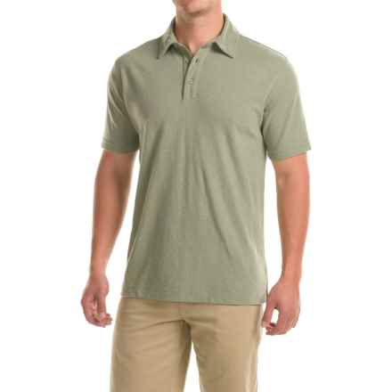 Woolrich Tall Pine Polo Shirt - Short Sleeve (For Men) in Spruce - Closeouts