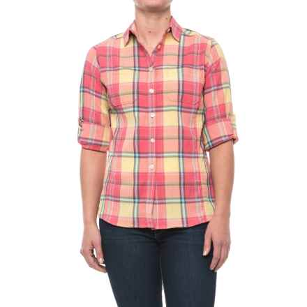 Woolrich Tall Pine Pucker Convertible Shirt - Long Sleeve (For Women) in Butternut - Closeouts