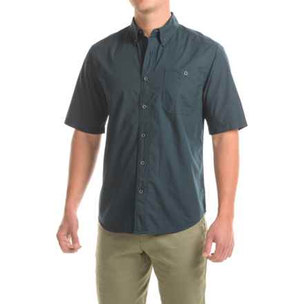 Woolrich Tall Pine Ripstop Shirt - Fitted, Short Sleeve (For Men) in Shadow - Closeouts