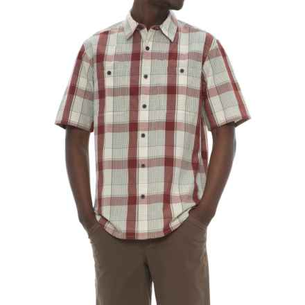 Woolrich Tall Pine Ripstop Shirt - Short Sleeve (For Men) in Antique Red - Closeouts
