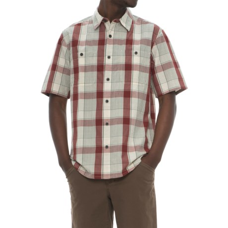 Woolrich Tall Pine Ripstop Shirt - Short Sleeve (For Men) in Antique Red