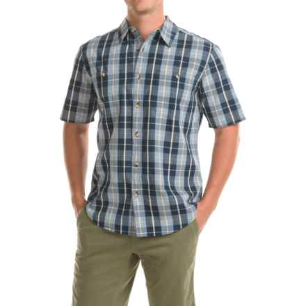 Woolrich Tall Pine Ripstop Shirt - Short Sleeve (For Men) in Blue - Closeouts
