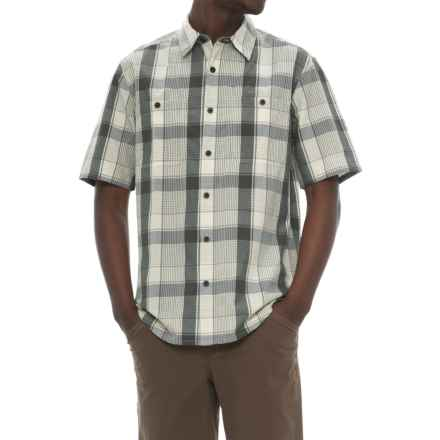 Woolrich Tall Pine Ripstop Shirt - Short Sleeve (For Men) in Petrol - Closeouts