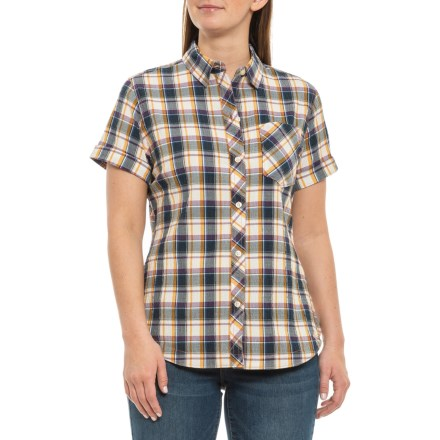 Responsible Mens Chaps Aqua Green Multi Colored Plaid Short Sleeve Shirt Shirts large High Standard In Quality And Hygiene