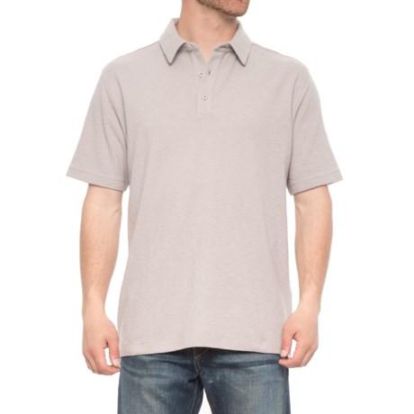 Woolrich Tall Pine Slub Polo Shirt - Short Sleeve (For Men) in Nickel