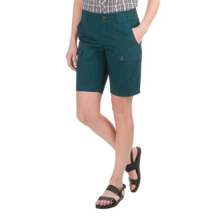 Woolrich Tall Pine Twill Cargo Shorts (For Women) in Harbor - Closeouts