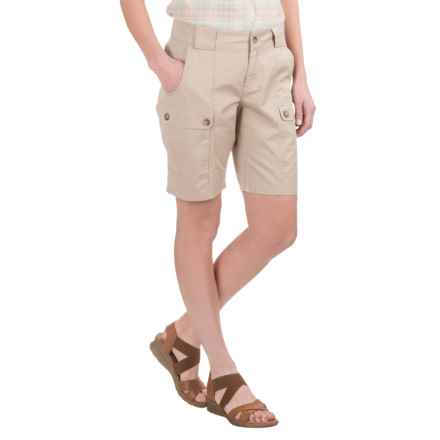 Woolrich Tall Pine Twill Cargo Shorts (For Women) in Stone - Closeouts
