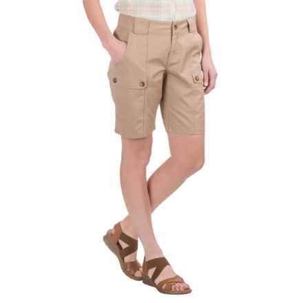 Woolrich Tall Pine Twill Cargo Shorts (For Women) in Warm Khaki - Closeouts