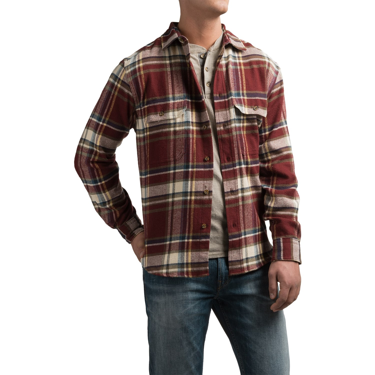 Woolrich Tall Pines Heavyweight Flannel Shirt For Men
