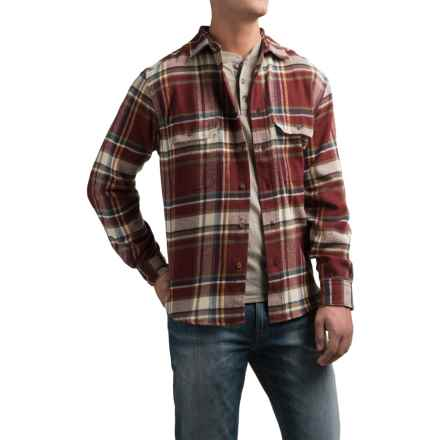 Woolrich Tall Pines Heavyweight Flannel Shirt - Long Sleeve (For Men) in Burgundy - Closeouts