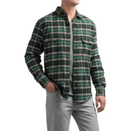 Woolrich Tall Pines Heavyweight Flannel Shirt - Long Sleeve (For Men) in Pacific Teal - Closeouts