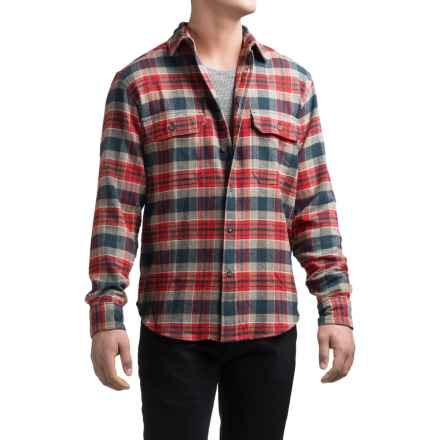 Woolrich Tall Pines Heavyweight Flannel Shirt - Long Sleeve (For Men) in Red/Navy - Closeouts