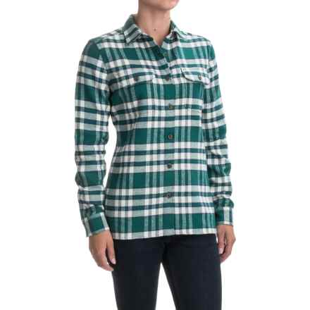 Woolrich Tall Pines Heavyweight Flannel Shirt - Long Sleeve (For Women) in Dark Teal - Closeouts