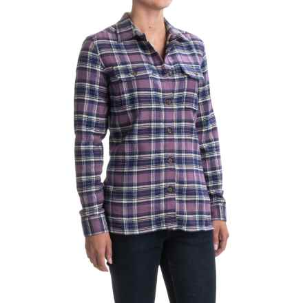 Woolrich Tall Pines Heavyweight Flannel Shirt - Long Sleeve (For Women) in Hyacinth - Closeouts