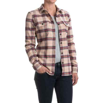 Woolrich Tall Pines Heavyweight Flannel Shirt - Long Sleeve (For Women) in Scarlet - Closeouts