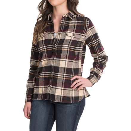 Woolrich Tall Pines Heavyweight Flannel Shirt - Long Sleeve (For Women) in Wine - Closeouts