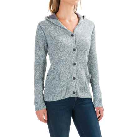 Woolrich Tanglewood Cardigan Hoodie Sweater (For Women) in Light Majolica - Closeouts