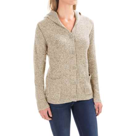 Woolrich Tanglewood Cardigan Hoodie Sweater (For Women) in Wool Cream - Closeouts