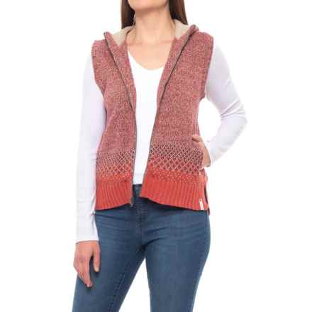 Woolrich Tanglewood Hooded Sweater Vest (For Women) in Terracota - Closeouts