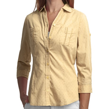 Woolrich Tanglewood Shirt - 3/4 Sleeve (For Women) in Light Sunspot