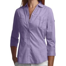 Woolrich Tanglewood Shirt - 3/4 Sleeve (For Women) in Light Wisteria - Closeouts