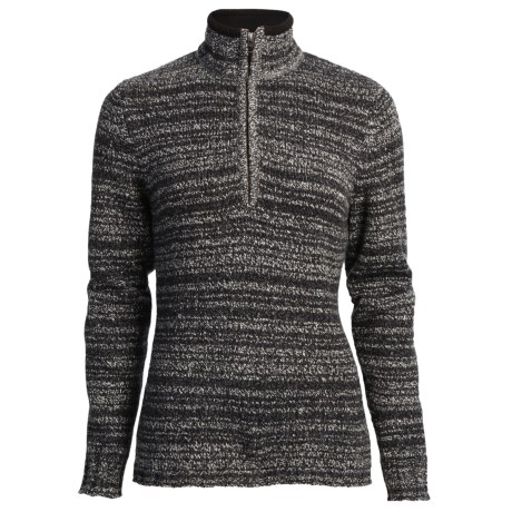 Woolrich Tanglewood Sweater - Zip Neck (For Women) in Cch Charcoal Heather
