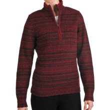 Woolrich Tanglewood Sweater - Zip Neck (For Women) in Deep Ruby Heather - Closeouts