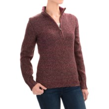 Woolrich Tanglewood Sweater - Zip Neck (For Women) in Fig - Closeouts