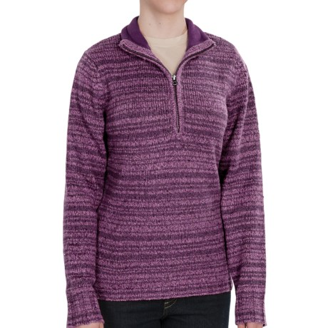 Woolrich Tanglewood Sweater - Zip Neck (For Women) in Grape Heather