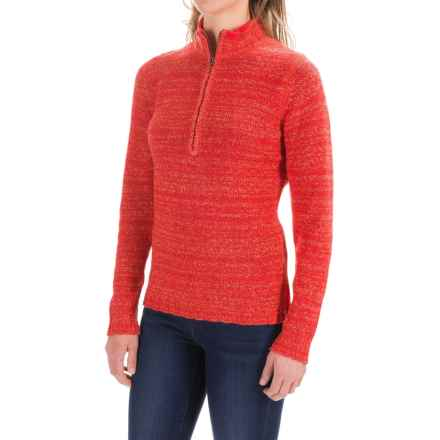 Woolrich Tanglewood Sweater - Zip Neck (For Women) in Hot Guava - Closeouts