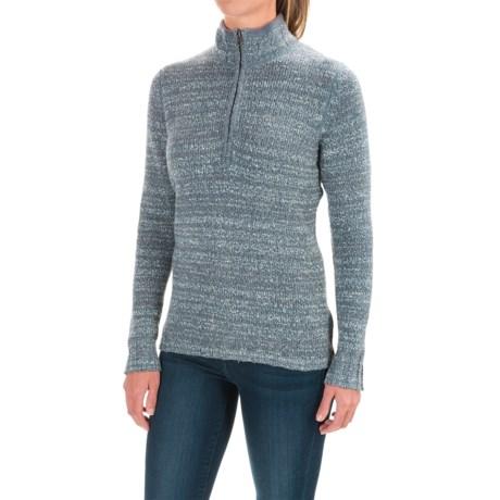 Woolrich Tanglewood Sweater - Zip Neck (For Women) in Light Majolica Heather