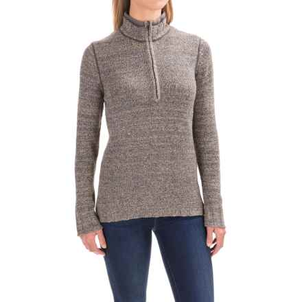 Woolrich Tanglewood Sweater - Zip Neck (For Women) in Matte Grey Heather - Closeouts