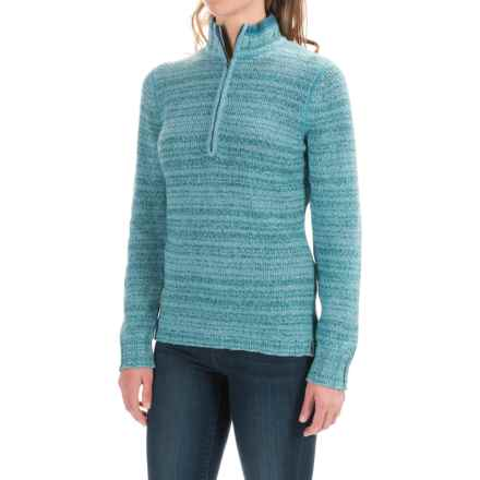 Woolrich Tanglewood Sweater - Zip Neck (For Women) in Mineral Blue - Closeouts