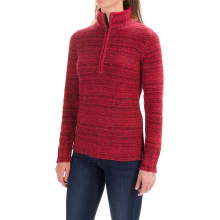 Woolrich Tanglewood Sweater - Zip Neck (For Women) in Wildberry Heather - Closeouts