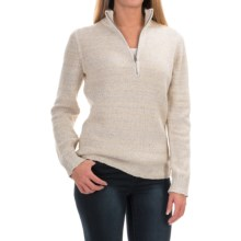 Woolrich Tanglewood Sweater - Zip Neck (For Women) in Wool Cream - Closeouts