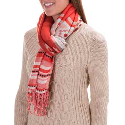 Woolrich Tapestry Wrap (For Women) in Dark Guava Cayenne Spice - Closeouts
