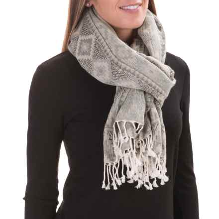 Woolrich Tapestry Wrap (For Women) in Silver Moonbeam - Closeouts