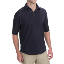 Woolrich Territory Polo Shirt - Merino Wool, UPF 40+, Short Sleeve (For Men) in Deep Indigo - Closeouts