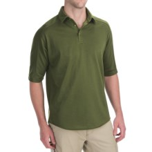 Woolrich Territory Polo Shirt - Merino Wool, UPF 40+, Short Sleeve (For Men) in Kelp - Closeouts
