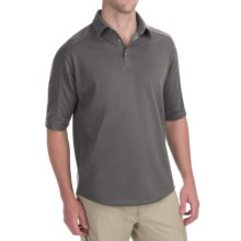 Woolrich Territory Polo Shirt - Merino Wool, UPF 40+, Short Sleeve (For Men) in Pumice - Closeouts