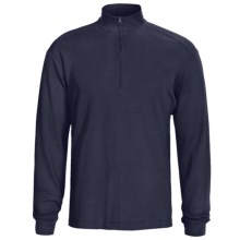 Woolrich Territory Shirt - UPF 40+, Zip Neck, Long Sleeve (For Men) in Deep Navy - Closeouts